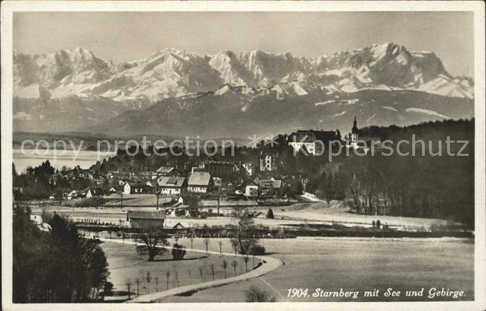 Starnberg mit See und Gebirge Kat. Starnberg