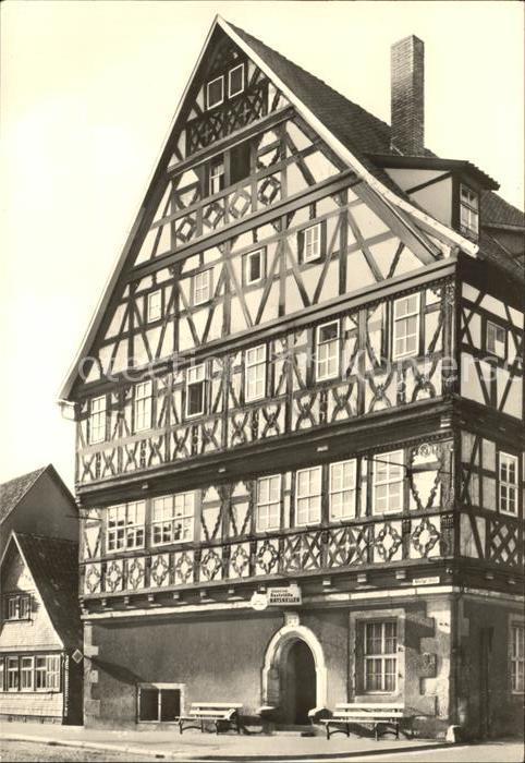 Ak corbach fachwerkbauten in der langfelderstrasse nr for Fachwerkbauten deutschland