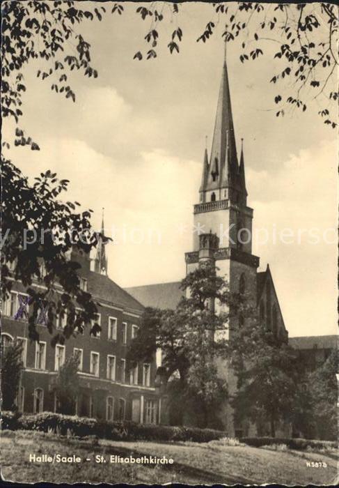 Halle Saale St Elisabethkirche Kat. Halle