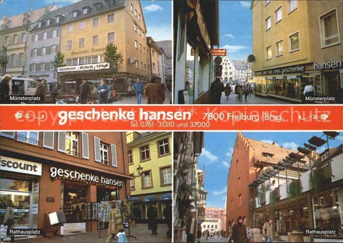 Freiburg Breisgau Geschenke Hansen Muensterplatz Rathausplatz Kat