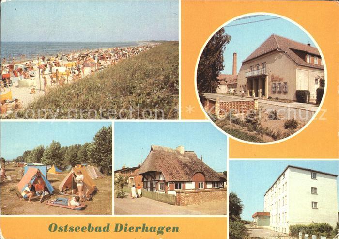 Dierhagen Ostseebad Strand FDGB Erholungsheim Ernst Moritz Arndt Campingplatz Buednerei Kat. Dierhagen Ostseebad