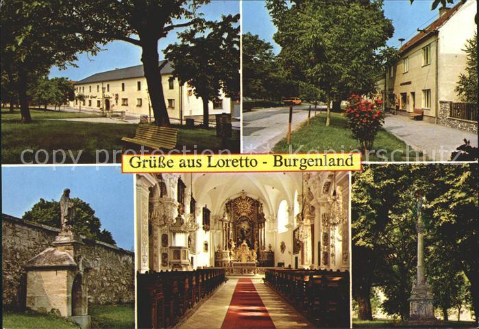 Loretto Burgenland Dorfmotive Bildstock Kirche Inneres Kat. Loretto