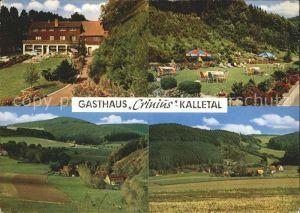 Heidelbeck Gasthaus Pension Crinius Liegewiese Panorama Kat. Kalletal