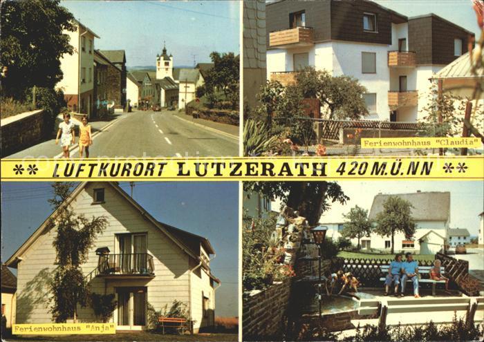 Lutzerath Ferienwohnhaeuser Strassenpartie Luftkurort Kat. Lutzerath