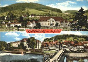 Rotenburg Fulda Teilansicht Partie an der Fulda Bruecke Kat. Rotenburg a.d. Fulda