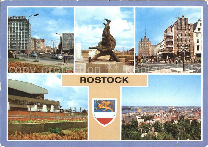 Rostock Mecklenburg Vorpommern Lange Strasse Cafe Rostock Kongresshalle Kat. Rostock