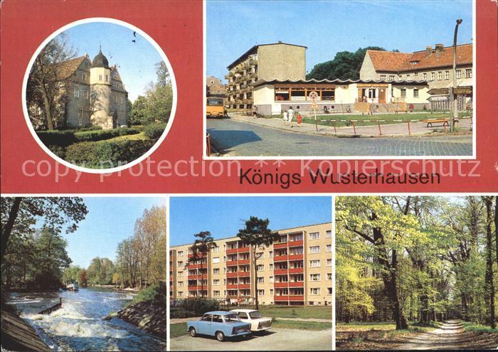 Koenigs Wusterhausen JagdschlossKaufhallePotsdamerstrasseNeue Muehle Kat. Koenigs Wusterhausen