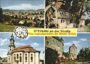 Steinau Strasse Amtshaus Reinhardskirche Hirschgraben  Kat. Steinau an der Strasse