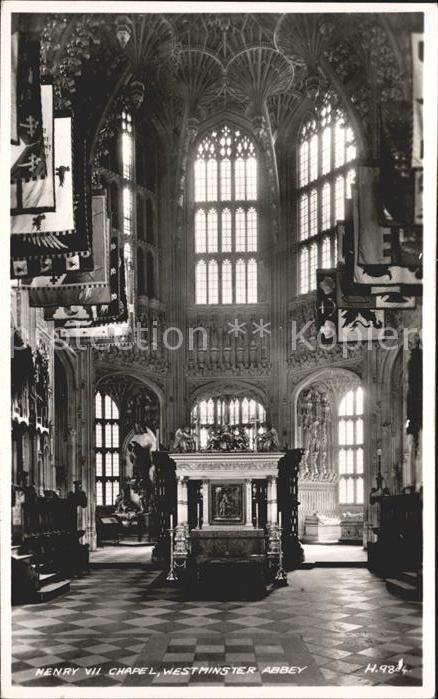 Westminster London Henry VII Chapel Westminster Abbey Valentines Card / Westminster /Inner London - West