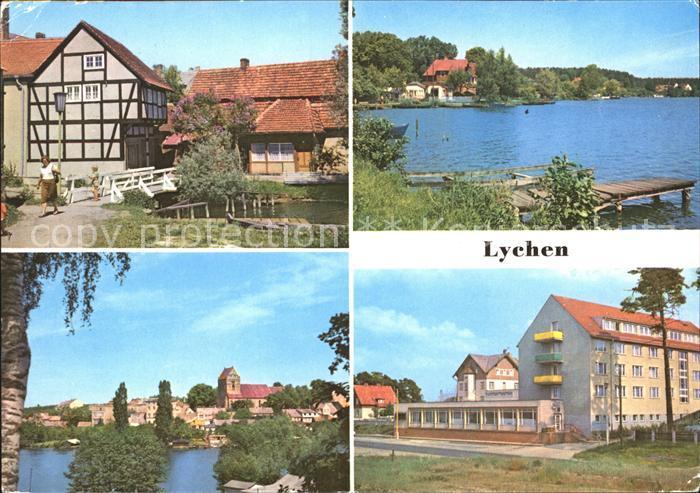 Lychen Oberpfuhlsee Stadtsee FDGB Erholungsheim Bertold Brecht Kat. Lychen