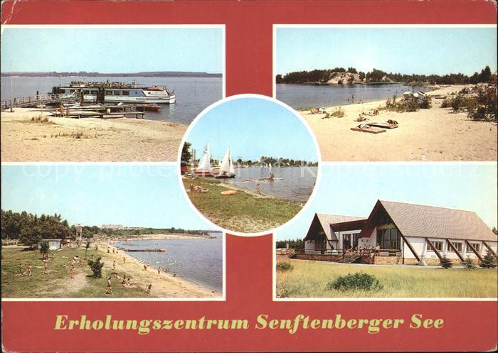 Senftenberg Niederlausitz Erholungszentrum Senftenberger See Dampfer Strand Kat. Senftenberg