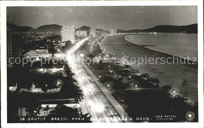 Santos Praia a noite Kat. Santos