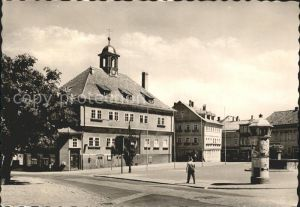 Waltershausen Gotha Markt mit Rathaus Kat. Waltershausen