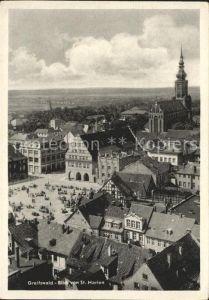 Greifswald Mecklenburg Vorpommern Blick von St Marien Kat. Greifswald