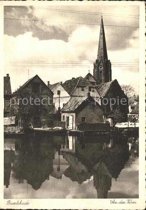 Buxtehude an der Viver Teilansicht Kirche Kat. Buxtehude