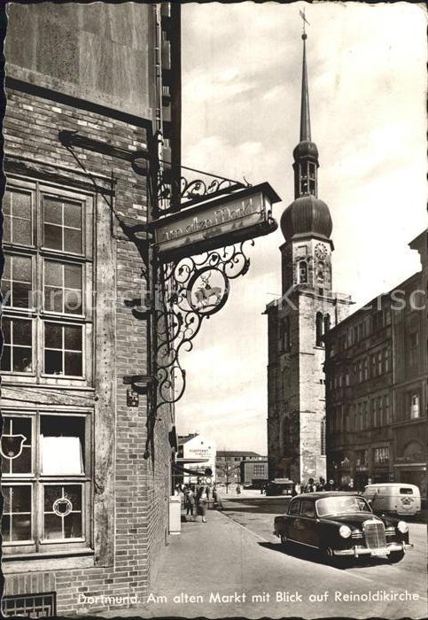 Dortmund Am alten Markt mit Reinoldikirche Kat. Dortmund
