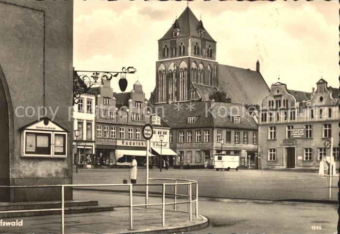 Greifswald Mecklenburg Vorpommern Platz der Freundschaft Kirche Kat. Greifswald