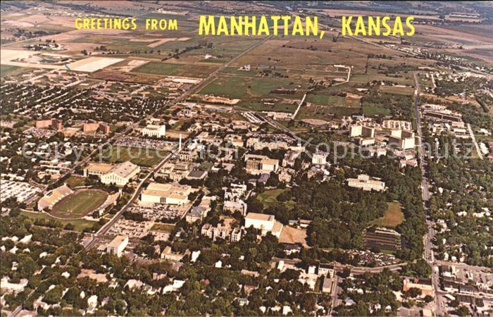Manhattan Kansas Aerial view Kat. Manhattan