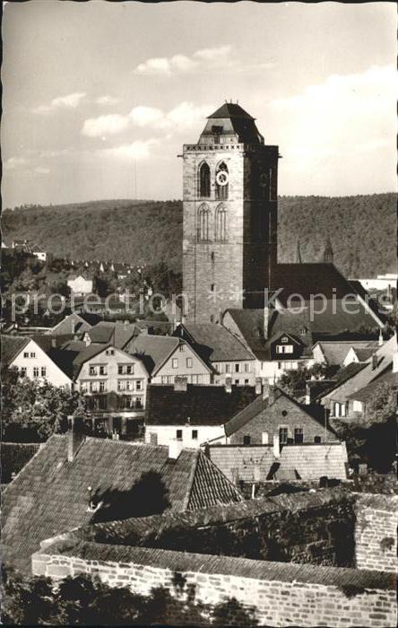 Bad Hersfeld Blick auf Stadtkirche Kat. Bad Hersfeld