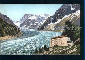 Chamonix La Mer de Glace Hotel du Montanvert Kat. Chamonix Mont Blanc