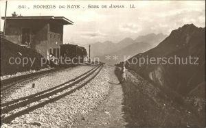 Rochers de Naye Gare de Jaman / Rochers de Naye /Rg. Montreux