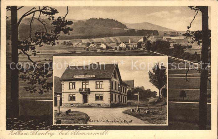 0 7291 arzberg blumberg lithographie gasthof zum alten ziethen schule kirche 1899 m ngel. Black Bedroom Furniture Sets. Home Design Ideas