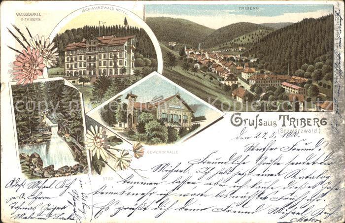 Triberg Schwarzwald Gewerbehalle Wasserfall / Triberg im Schwarzwald /Schwarzwald-Baar-Kreis LKR