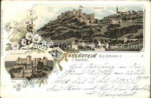 Burg Hohenstein Litho / Hohenstein /Rheingau-Taunus-Kreis LKR