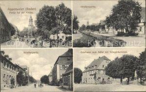 Appenweier Strassenpartie Gasthaus zum Adler Kriegerdenkmal / Appenweier /Ortenaukreis LKR