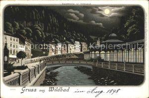 Wildbad Schwarzwald Olgastrasse Trinkhalle Litho / Bad Wildbad /Calw LKR
