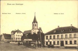 Dunningen Wuerttemberg Gasthaus zur Krone Pfarrhaus Kirche Kaufmann Mauch / Dunningen /Rottweil LKR
