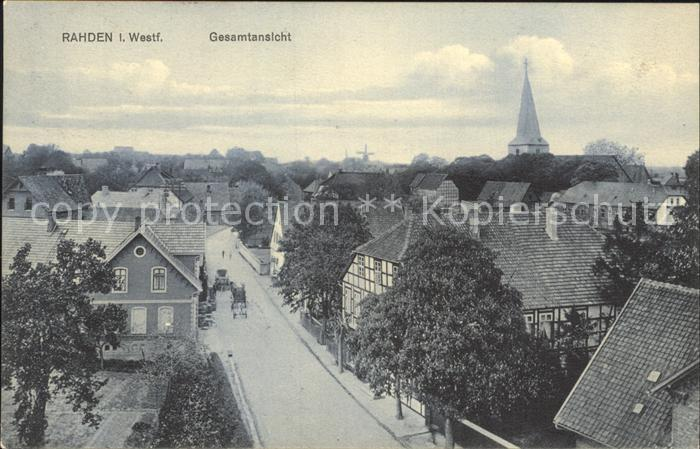 Rahden Westfalen Gesamtansicht / Rahden /Minden-Luebbecke LKR