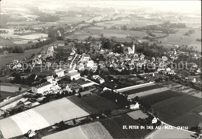 St Peter Au Fliegeraufnahme / St. Peter in der Au /Mostviertel-Eisenwurzen