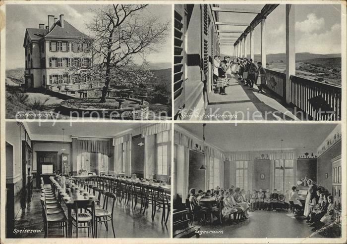 Elmstein Pfaelzisches Ferienheim E.V. Speisesaal Tagesraum Veranda / Elmstein /Bad Duerkheim LKR