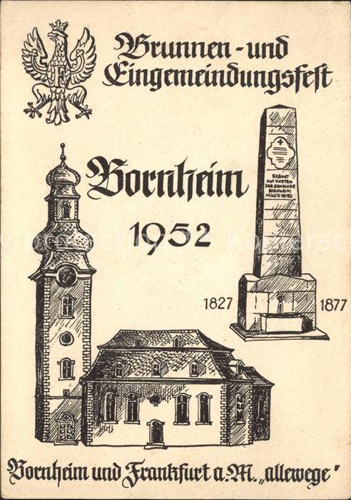 Bornheim Hessen Brunnen- und Eingemeindungsfest / Frankfurt am Main /Frankfurt Main Stadtkreis