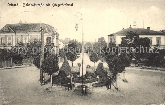 Ortrand Bahnhofstrasse Kriegerdenkmal / Ortrand /Oberspreewald-Lausitz LKR