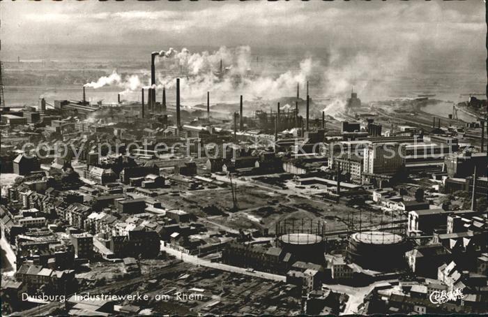 Duisburg Ruhr Fliegeraufnahme Industriewerke am Rhein / Duisburg /Duisburg Stadtkreis