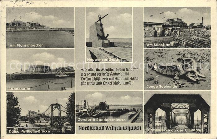 Wilhelmshaven Am Planschbecken Strandhalle Heppenser Garden Hebebruecke Kat. Wilhelmshaven