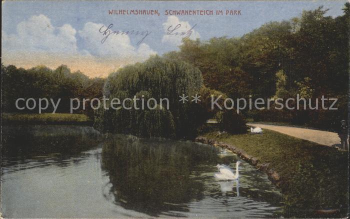 Wilhelmshaven Schwanenteich im Park Kat. Wilhelmshaven
