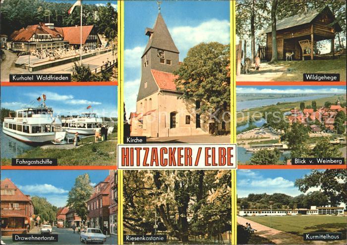 Hitzacker Elbe Wildgehege Kurmittelhaus Riesenkastanie Kirche Drawehnertorstrasse Kat. Hitzacker (Elbe)