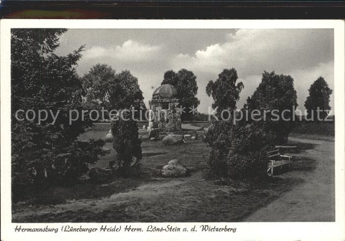 Hermannsburg Loens Stein auf dem Wietzer Berg Kat. Hermannsburg