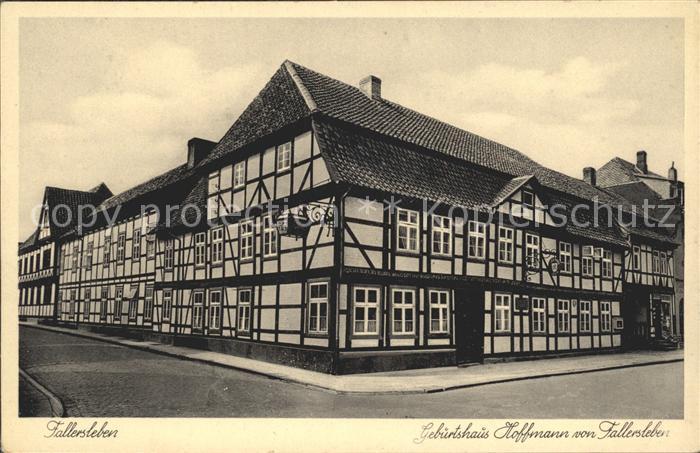 Fallersleben Geburtshaus von Hoffmann von Fallersleben Kat. Wolfsburg