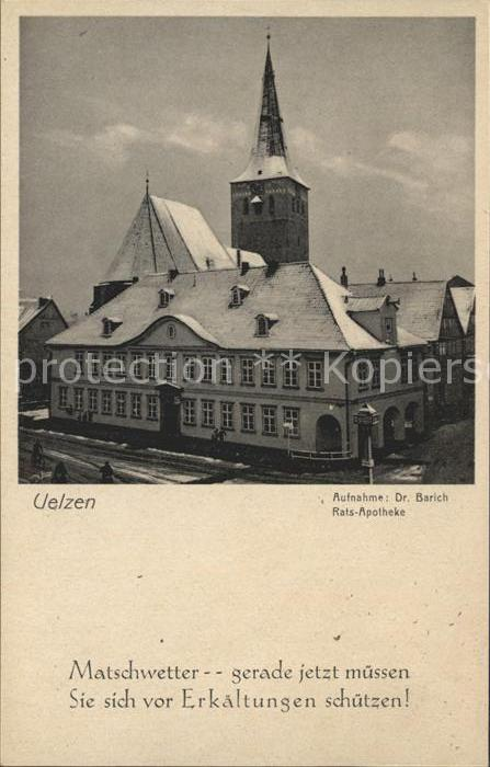 Uelzen Lueneburger Heide Rats Apotheke Kirchturm Kat. Uelzen