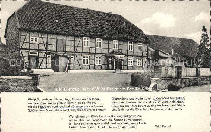 Ehmen Gasthaus Dorfkrug Fam Knigge Kat. Wolfsburg