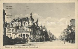 Hannover Villa von Hindenburg mit Wedekindstrasse Kat. Hannover