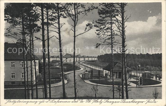 Bergen Celle Haupteingang zu den Kasernen  Kat. Bergen
