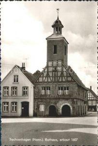 Sachsenhagen Rathaus 17. Jhdt. Kat. Sachsenhagen