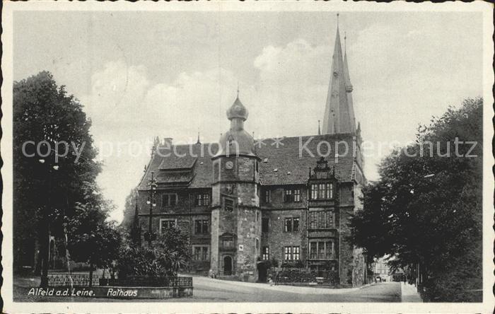 Alfeld Leine Rathaus Kat. Alfeld (Leine)