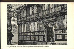 Alfeld Leine Eingang Haus Heimat  Kat. Alfeld (Leine)