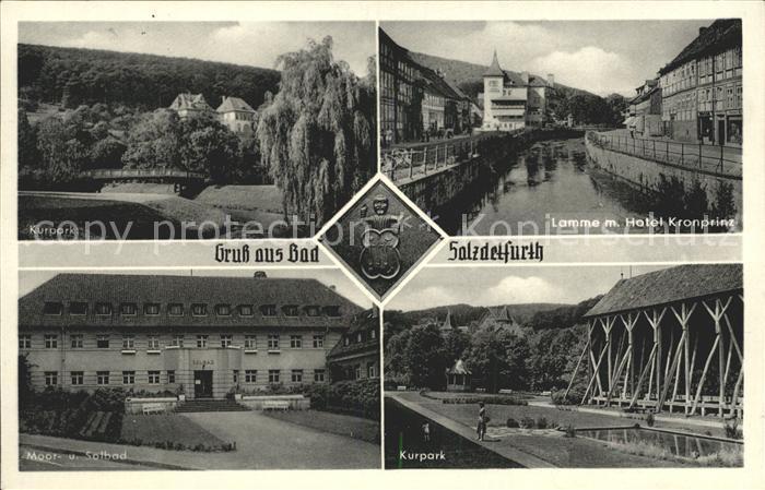Bad Salzdetfurth Kurpark Moor  und Solbad Lamme Hotel Kronprinz Kat. Bad Salzdetfurth